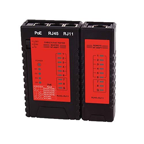 KKmoon Netzwerk Kabeltester RJ45 RJ11 PoE Switch Tester Leitungstester für Ethernet LAN Kabel Festnetztelefon Draht Test Tool