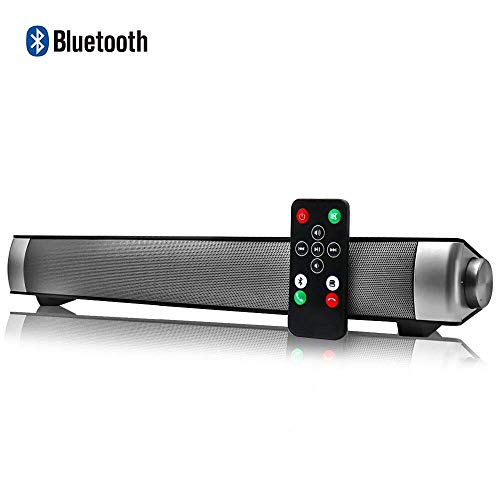 Altavoces Bluetooth PC, Barra de Sonido para TV Mini Soundbar Bluetooth 4.2 Inalambricos con Cables...