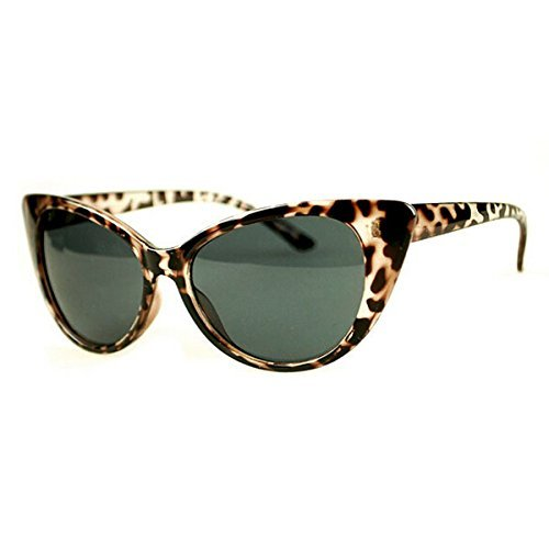 YOIL Elegante und hübsche Dekoration Vintage Cat Eye Sonnenbrille, Klassische Steampunk Sonnenbrille Frauen Sonnenbrille, für Party Beach Seaside, Leopardenprint