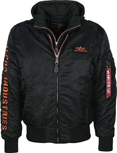 Alpha Industries Herren Bomberjacken MA-1 D-Tec SE schwarz M (Orange Schwarz Winter Jacke)