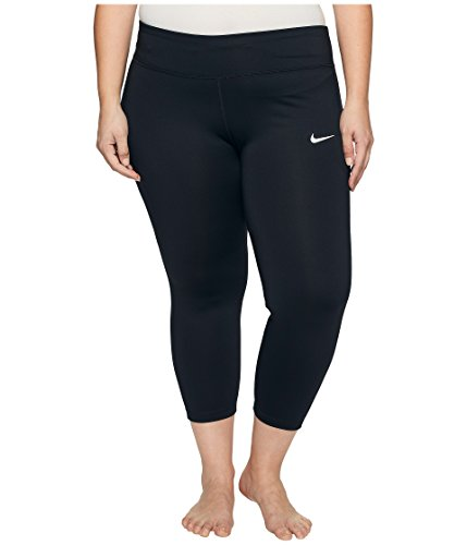 Nike Damen Power Essential Tights, Schwarz (Black/Reflective Silver), 1X -