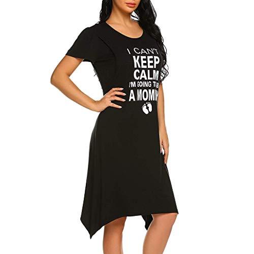 Abito di maternità, donna incinte senza maniche vestito da maternità abito di gravidanza vestiti da pigiama abiti premaman casual camicia da notte - abito per allattamento estivo