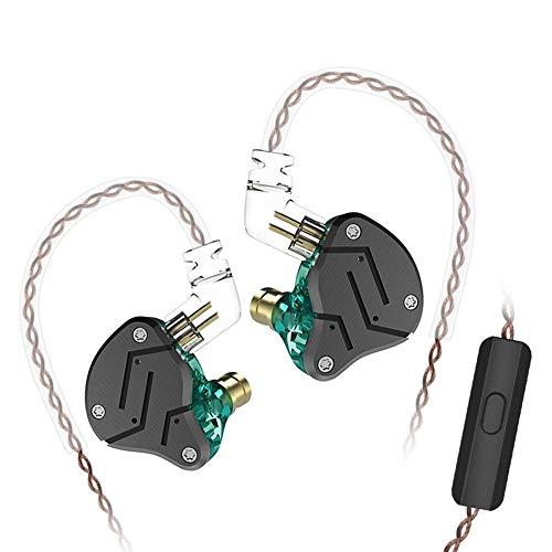 YouN KZ ZSN 1DD+1BA Armature Dual Driver Earphone Earbud (Cyan with Mic) Dual-wear Bluetooth