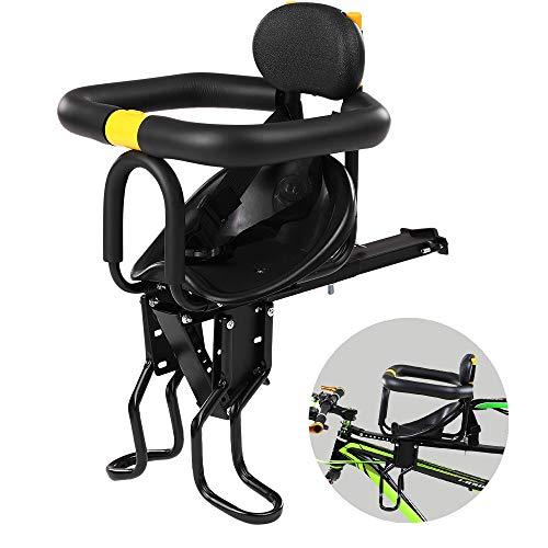 Mewmewcat Asiento de Seguridad para niños Asiento Delantero para Bicicleta Sillín Infantil Portabebés...