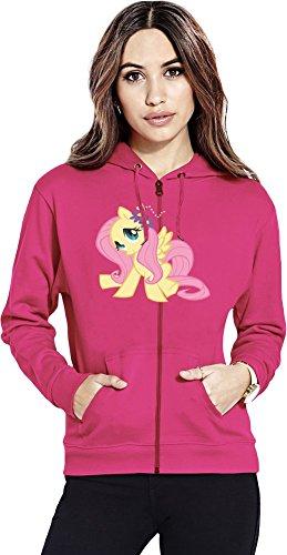 Fluttershy my little pony Womens Zipper Hoodie X-Large
