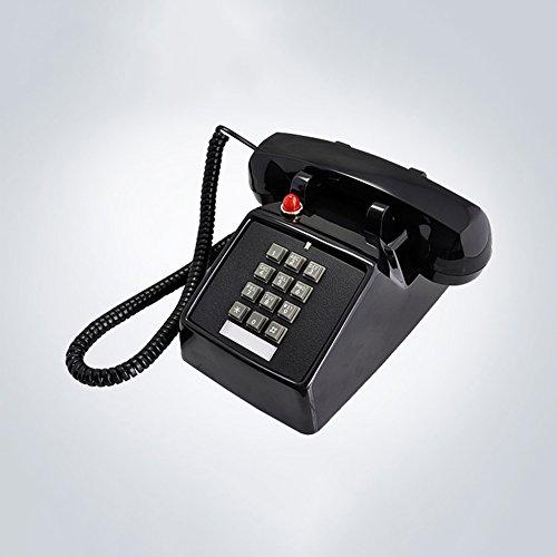 XKS 1970Er Jahre Inspiriert Festnetz-Taste Retro-Telefon Mit Klassischen Metall Glocke Klingel (1970er-taste)