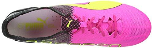 Puma evoSPEED II Super Light Tricks Mixed Soft Ground  Men s Football Boots  Multicolor  Pink Glo Safety Yellow Black   11 UK  46 EU