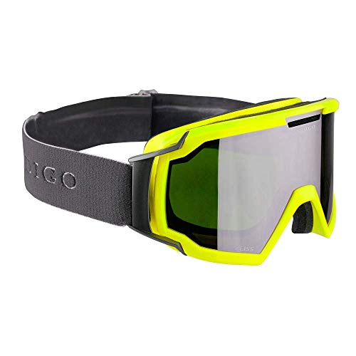 Indigo Snow Goggles CORE   Gelb   Ski & Snowboard Brille   Hochwertige Qualität