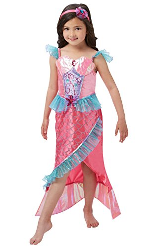Up Dress Kostüm Meerjungfrau - Rubie 's Offizielles Deluxe Meerjungfrau Prinzessin Kostüm Mädchen groß
