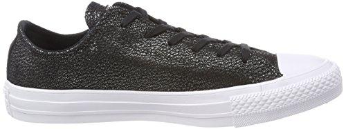 Converse Ctas Ox, Sneaker Unisex – Adulto Schwarz (Black/Silver/White)