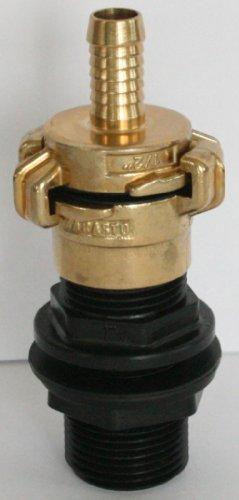 amtdvn _ 100 + 104 pour mise en place avec écrou Union 2,5 cm + SchiVo Vertrieb Raccord en laiton Il 2,5 cm et raccord en laiton Convient pour SchiVo Vertrieb, bec avec tuyau œ \