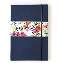 7mm Pop Collective NAVY BLUE, 144 pages, Ruled Notebook, 12 x 18 cms