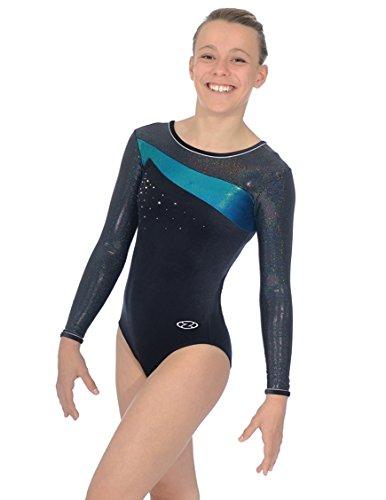 the-zone-z338-icon-long-sleeve-jewel-motif-leotard-black-mermaid-size-32