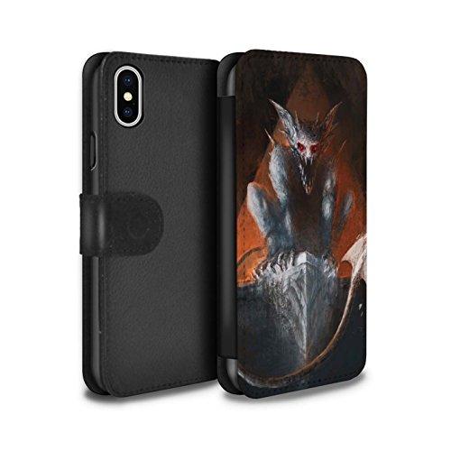 Offiziell Chris Cold PU-Leder Hülle/Case/Tasche/Cover für Apple iPhone X/10 / Vampirfledermaus Muster / Wilden Kreaturen Kollektion Vampirfledermaus