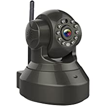 Vstarcam Caméra IP 720P HD Caméra de Surveillance Sans-Fil WiFi Caméra Intérieur, Vision Jour / Nuit, Detection de Movement, Alarme par E-mail, Intelligent APP Android / iPhone / iOS, Sécurité pour Maison, Bébé, Animaux, Supermarché, Bureau etc. Noir