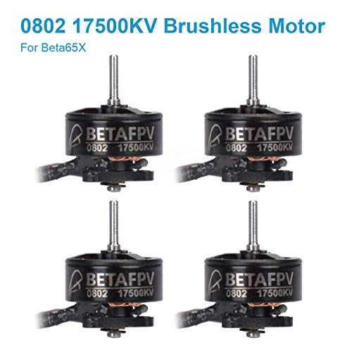 BETAFPV 4pcs 0802 Motor 17500KV Brushless Motors FPV RC Brushless for 2S Micro Whoop FPV Drone Like Beta65X etc (Brushless Micro Rc)