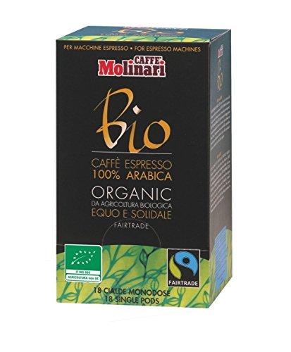 Caffè Molinari 100% Bio-Arabica, 18 ESE Espresso Pads / Pods, 1er Pack (1 x 125 g)