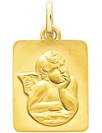 8174838f694 So Chic Joyas© colgante medalla Rectángulo ángel guardián Rafael pensif  sobre nube oro amarillo 750