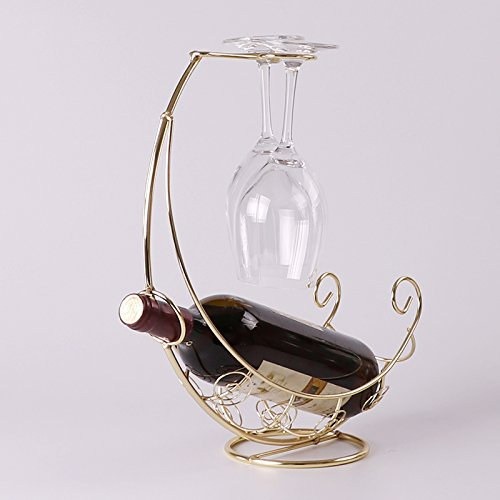 Espresso-wein-cabinet (Creative Flaschenregal/Flaschenhalter von Wein Fashion Wine Rack Rack Stemware Golden)