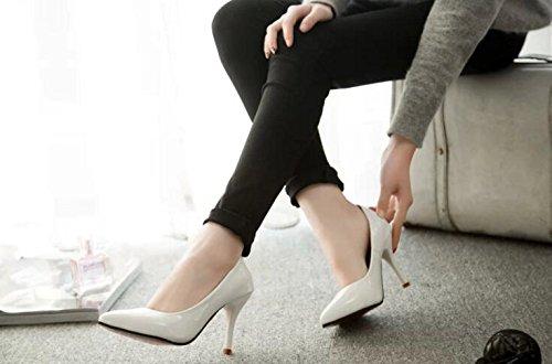 Shallow Mund High Heels Damen Hochzeit Schuhe Weiß