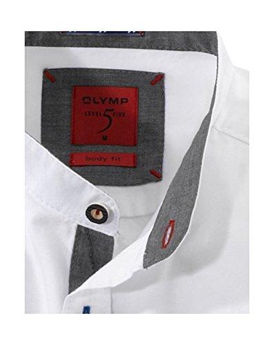 Olymp Hemd Trachtenhemd Level 5 Body Fit weiss Weiß