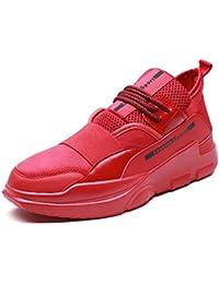 Hombres Respirable Zapatillas De Baloncesto 2017 Invierno Nuevo Moda Casual Zapatos Cómodo Zapatillas ( Color : Rojo , Size : 41 )