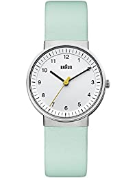 Braun Damen-Armbanduhr BN0031WHTQL Analog Quarz Leder BN0031WHTQL