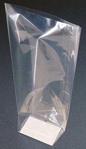 50 x klar Zellophan Block Boden Party süß Süßigkeiten behandeln Taschen (groß - 120x80x330mm)