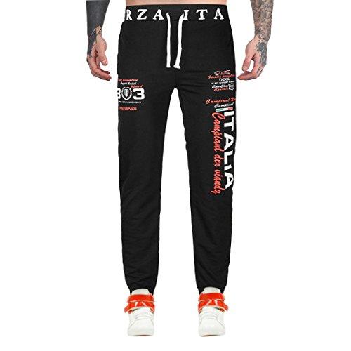 ❤️Pantalons Homme, Amlaiworld Homme Impression de Lettres Élastique Long Pantalons de Sport Jogging Occasionnel Ddanse Sportwear Baggy Sarouel Pantalons de Jogging (L2, Noir)