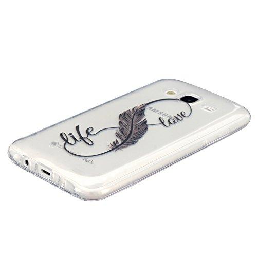 iPhone 6S Custodia, iPhone 6 Silicone Morbido Cover, Felfy Fashion Occhi neri Design Super Sottile TPU Trasparente Rigida in Silicone Gel Custodia Copertura Protettiva Tasca Custodia Bumper Cover Case Piuma