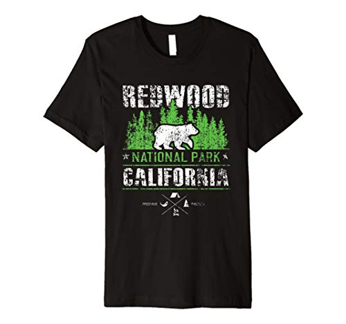 Redwood Nationalpark Neuheit Wandern Rucksackreisen T Shirt