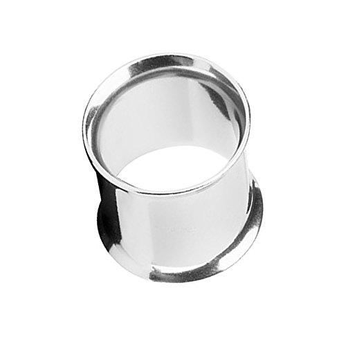 Piercingfaktor Unisex Flesh Tunnel Ohr Schraub Ear Plug Piercing Tribal Edelstahl Schraubverschluss Ohrpiercing Double Flared 8mm Silber
