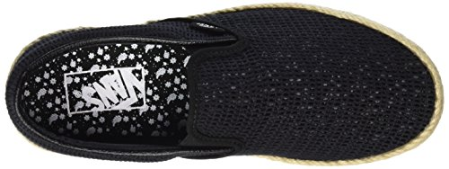 Vans Unisex-Erwachsene Classic Slip-On Espadrille Sneaker Schwarz (mesh/black)