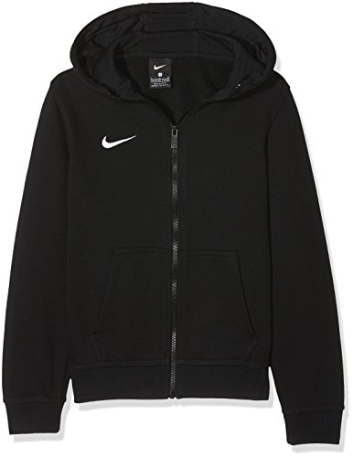 Nike Kinder Team Club Full-Zip Hoody Kapuzenjacke Sweatshirt Team Club Full Zip, Gr. S, Schwarz (Black/Black/Football White) Full Zip Sweatshirt Jacke