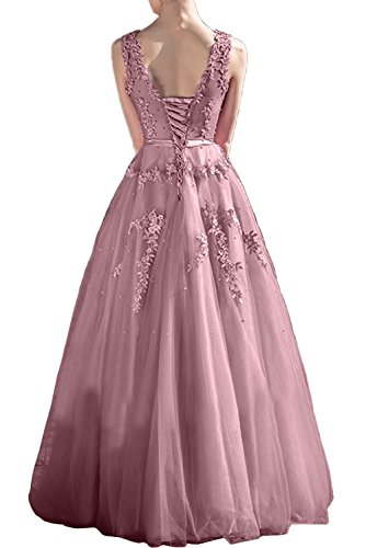 Gorgeous Bride Romantisch Rundkragen A-Linie Lang Satin Tüll Spitze Abendkleider Lang Cocktailkleider Ballkleider Daffodil