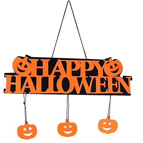 te Dekoration - Schriftzug - Happy Halloween - Haus - Außen - innen - Kuh - Orange - Schwarz - Festa - Aufhängung - Tür ()