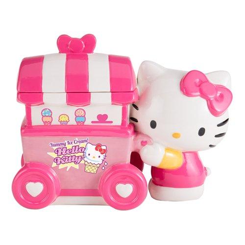 Hello Kitty Ice Cream Cart Limited Edition Ceramic Cookie Jar Keramik Cookie Jar