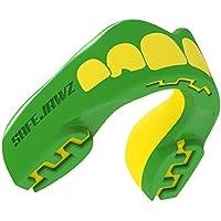 Safejawz Protector bucal deportes, NO, unisex, color Verde - verde y amarillo, tamaño Ages 12+
