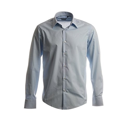 HUGO BOSS Business-Hemd | Enzo ( Regular Fit ) hellblau 100% Cotton (41) (Boss Business-anzug)