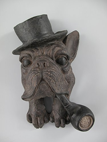 *WH* Hund(Wandfigur) Polystein farbig H.38x20cm