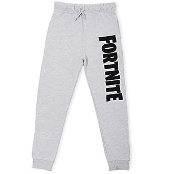 Fortnite Pantaloni Ragazzo | Tuta Sportiva Casuale Bambino | Pantaloni da Jogging Pantaloni Tuta in Nero o Grigio da 7 ai 14 Anni (9/10 Anni, Grigio)