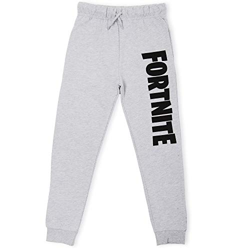 Fortnite Jogginghose Jungen | Sportswear Sport-Jogginghose Sweat Pants in Schwarz, Grau | Modischen Jogginghosen Geschenk Junge für leidenschaftliche Spieler (13/14 Jahre, Grau)