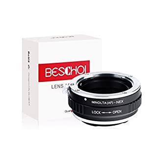 Beschoi Minolta AF-NEX Objektivadapter, Objektiv Adapterring für Minolta AF Objektiv auf Sony NEX E-Mount Kamera