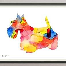 basenji Rasse Hunde Hunderasse Fine Art Print Aquarell Silhouette Profil Poster Kunstdruck Plakat modern ungerahmt DIN A 4 Deko Wand Bild