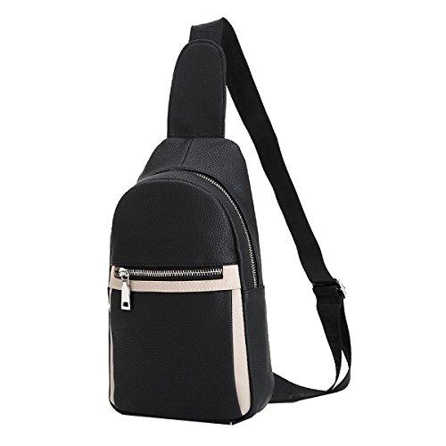 Borse Yy.fPU Sacchetto Degli Uomini Del Torace I Nuovi Sacchetti Di Modo Sacchetto Delluomo Di Moda Casual Lafflusso Di Uomini Messenger Bag 2 Colori Black