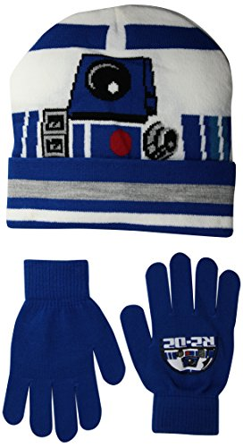 Star Wars R2-D2 Youth Pom Beanie Mütze with Gloves