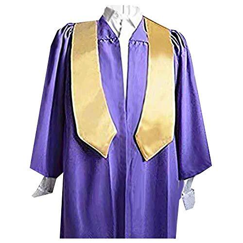 Un singolo appendiabiti in coro, colore: viola con stola in raso, colore: oro