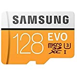 Samsung Evo Microsd Geheugen Kaart Inclusief Adapter, 128Gb, Oranje/Wit