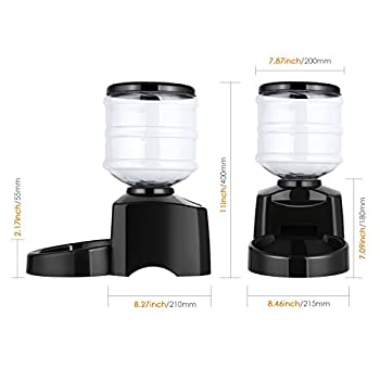 Amzdeal 5.5L Distributeur Automatique de Croquettes avec Enregistrement Messagerie Vocale, Distributeur de Nourriture 3 Repas pour Chien, Chat, et Animaux de Compagnie (Nouvelle Version)