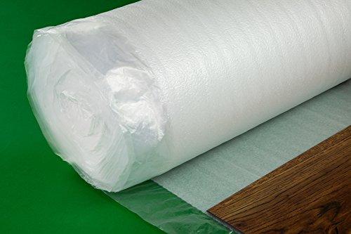 25 m² Trittschalldämmung Dampfsperre Folie Überlappung Boden NOSTRAFOAM 2mm